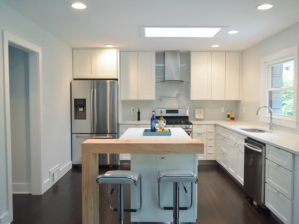 Standard size kitchen remodeled