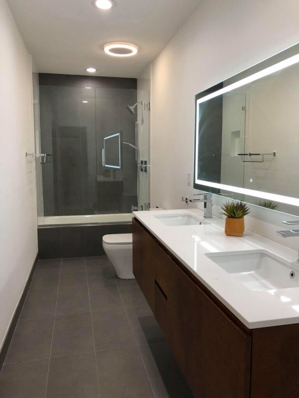New bathroom with integrated lighting