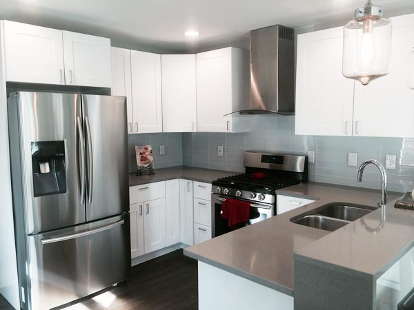 Kitchen remodeling timelines and costs are different for small kitchens like this